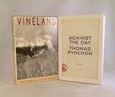 Thomas Pynchon-2 Books!!-TRUE First/1st Editions!!-Vineland-Against The Day-RARE