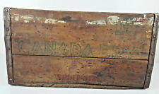 Vintage Canada Dry Ginger Ale Split Size 10 Cent Wooden Soda Advertising Crate