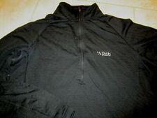 RAB (XL) men's black AL Pull -on long sleeve top 1/4 zip