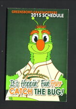 Greensboro Grasshoppers--2015 Pocket Schedule--Goodwill Industries--Marlins