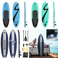 10'/11' Inflatable Stand Up Paddle Board Portable All Levels SUP Wavebreak W/Bag