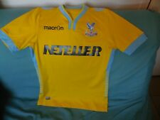 CRYSTAL PALACE FOOTBALL SOCCER JERSEY MAILLOT SIZE S MACRON AUTHENTIC