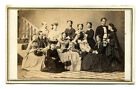 GROUP PHOTO MANY WOMEN WITH HATS. CDV NEWBURGH, N.Y.