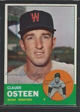 1963 Topps #374 Claude Osteen Senators signed auto autograph flat shipping