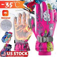 Winter Waterproof Warm Boys Girls Gloves Sports Children Mittens Snow Outdoor