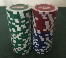 CAMEL CASINO LAS VEGAS - 50 POKER CHIPS - NEW IN PLASTIC 2005 -RED, BLUE & Green