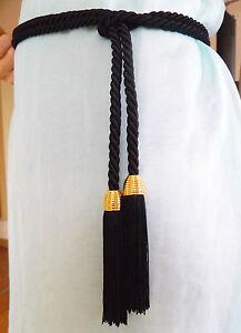 1 neuer KORDEL-Gürtel mit handgef.QUASTEN-Handmade in Germany-in vielen Farben