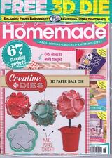 Simply Homemade Magazine No 68 Paper Cards Crochet Knitting 3d Ball Die Gift