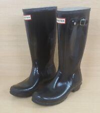 Black Hunter Wellies Original KID'S Brillant Taille 5 UK 38 EUR Wellington Boots