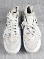 Nike air huarache mens white trainers shoe size 8 UK 318429-111