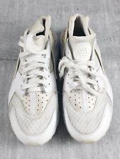Nike Air Huarache High Top Mens All White Trainers Shoe Size 8 UK 318429-111