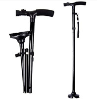 Available Safe Cane All-Terrain Pivoting Base Folding Walking Stick Cane 2 Style