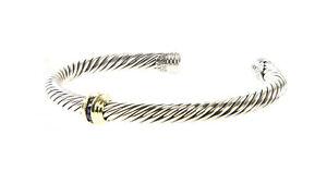 DAVID YURMAN Cable Classics Single-Station Bracelet Sapphire & 14K Gold $750 NEW
