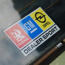 Chevette Ascona Manta 6 inch. Window Sticker Decal Dealer Sport GM Vauxhall Opel