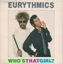 "45 TOURS / 7"" SINGLE--EURYTHMICS--WHO'S THAT GIRL ?--1983 ""IMPORT ANGLAIS"""
