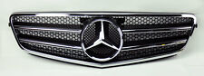 Front Black & Chrome Hood Sport Grill for Mercedes C Class W204 08-14
