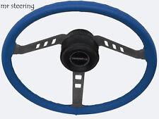 Se adapta a MG TF Enano 53-55 calidad real de piel azul de cubierta del volante Nuevo