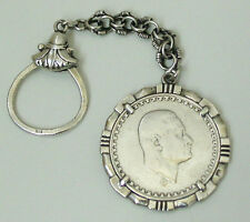 LTD SILVER Coin GAMMAL ABDEL NASSER - United Arab Republic - Made as a Key Chain
