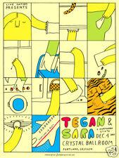 Tegan & Sara 2007 Concert Poster : Powerhouse Factories