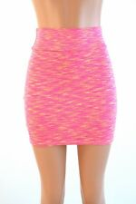 SMALL Orange/Pink Soft Knit Strata Stretchy Bodycon Mini Skirt Ready To Ship!