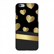 AMZER Snap On Case Golden Hearts HARD Plastic Protector Case Phone Cover