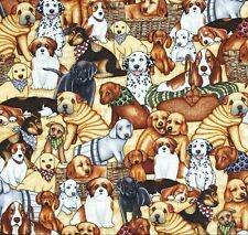 Patchworkstoff Ruff Life Dogs Patchwork Stoffe Hunde Tiermotive Baumwolle Tiere