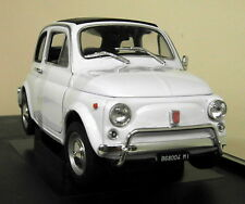Welly 1/18 Scale 18009W 1957 Fiat 500 White Diecast model Car