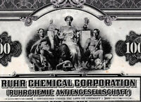 Ruhrchemie AG Oberhausen unc Gold $ bond 1928+ Kup. germany Ruhr chemical OXEA