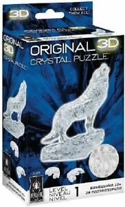BePuzzled Original 3D Crystal Jigsaw Puzzle - Clear Wolf
