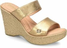 Born Women's Aakash Full-grain Gold leather Shoes F64310