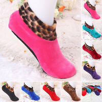 Women Men Ladies Non Slip Floor Flock Socks Slipper Soft Home Shoes Sock Winter