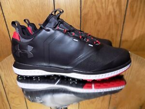 New Under Armour Mens UA Tempo Sport 2 Golf Shoes Cleats Spikes Black s 11.5 BR