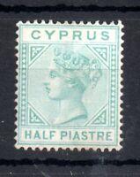 Cyprus 1881 QV 1/2PI mint MH SG11 WMK CC WS13034