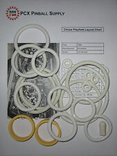 1980 Brunswick Circus Pinball Machine Rubber Ring Kit