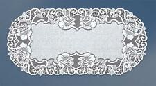 "Fancy oval white, lace table runner 60cm x 120cm (24""x47"") elegant gift"