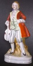 """Occupied Japan MUSICIAN WITH CELLO porcelain/china 6-1/2"""" statuette 023"""
