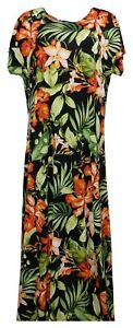 Attitudes by Renee Dress Sz XL Regular Como Jersey Maxi Green A347401