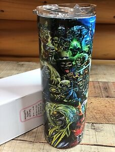 Brand New Custom 20oz Iron Maiden Tumbler with Lid and Straw / All the Eddies