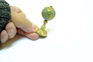 1840c Miniature terrestrial globe for DollHouse 2cm. XIX Century