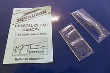 SQUADRON 1:48 CUPOLINO TRASPARENTE CLEAR CANOPY BELL P-39 AIRACOBRA  ART 9526