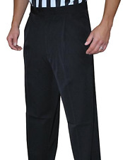 Smitty | Bks-281 | 4-Way Stretch Black Pleated Official's Pants | Slash Pockets