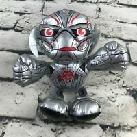 Marvel Ultron Plush Silver Red Talking Stuffed Animal Avengers Villian Soft Toy