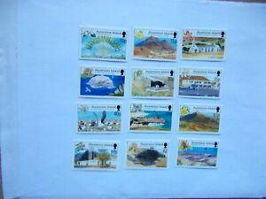ASCENSION ISLAND: 2002 Island Scenes Definitives 12 stamps U/M  Sg851/62