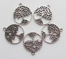 5pz charms ciondoli albero della vita colore tibetano 29x25mm  bijoux