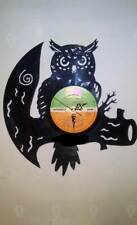 Owl themed record clock