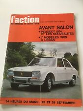 ACTION AUTO N 96 08-09/1968 Peugeot 504 Avant Salon L6