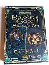 Baldurs Gate II Shadows of Amn & Throne of Bhaal BOX *Tested*