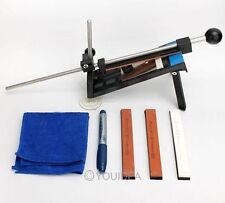 Knife Sharpener Professional Kitchen Sharpening Kits System Fix-angle + 4 Stones