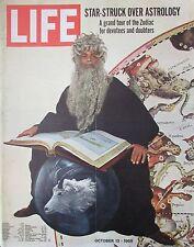 MAGAZINE LIFE de OCTOBRE 1969 ASTROLOGIE ZODIAQUE GUERRE ISRAEL BATEAUX ALASKA