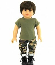 "2 Pc Army Outfit fits American Girl Boy Doll Logan - 18 "" Dolls"